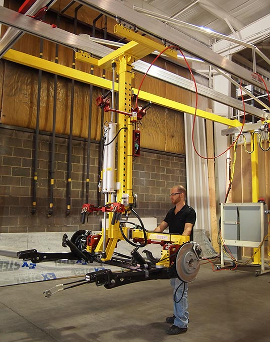 2709 slide column manipulator G-Rail crane by Givens Engineering Inc.
