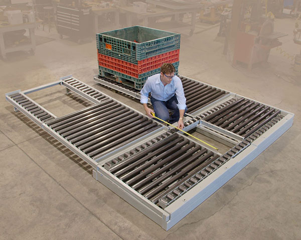 Custom roller conveyor by Givens Lifting Systems Inc.