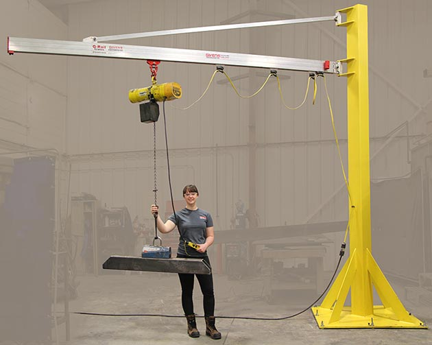 J250 Jib Crane manufactured by Givens Lifting Systems in the US