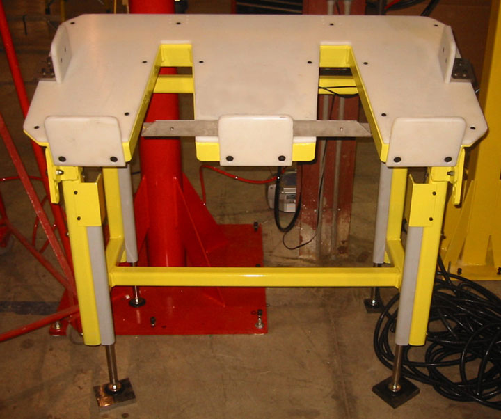 custom automotive seat assembly bench by Givens Lifting Systems Inc.