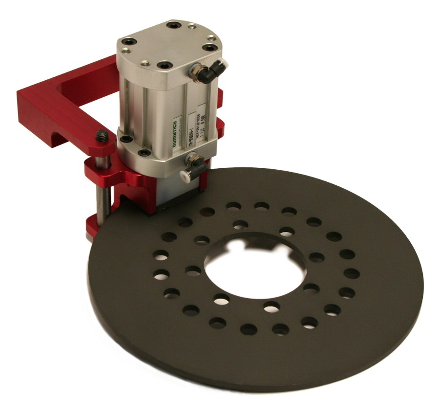 STD-BL with mounting bracket and brake disc by Givens Lifting Systems Inc.