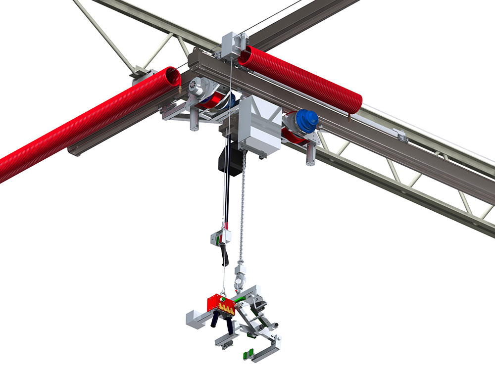 Powered Bridge & Hoist Food-Grade Crane by Givens Lifting Systems Inc.