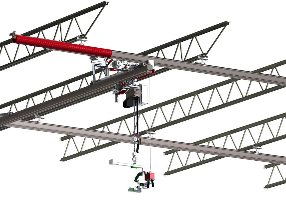 Food-Grade, Stainless Steel Bridge Crane by Givens Lifting Systems Inc.