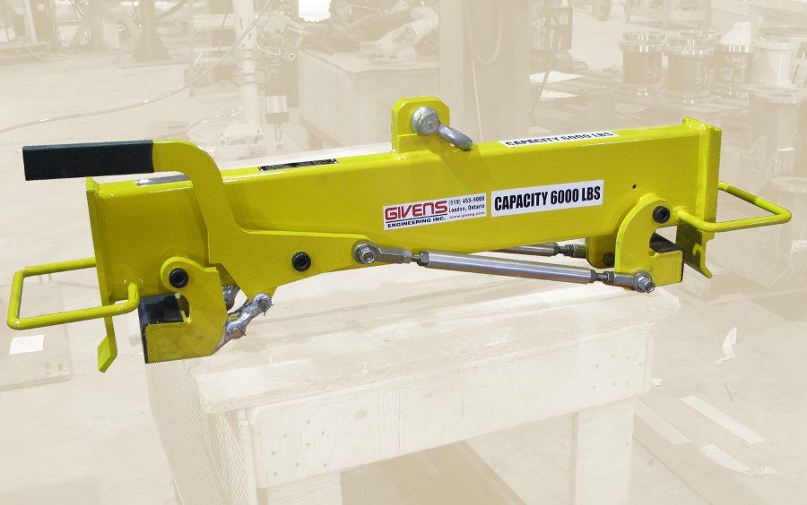 custom latching frame lifter by Givens Lifting Systems Inc.
