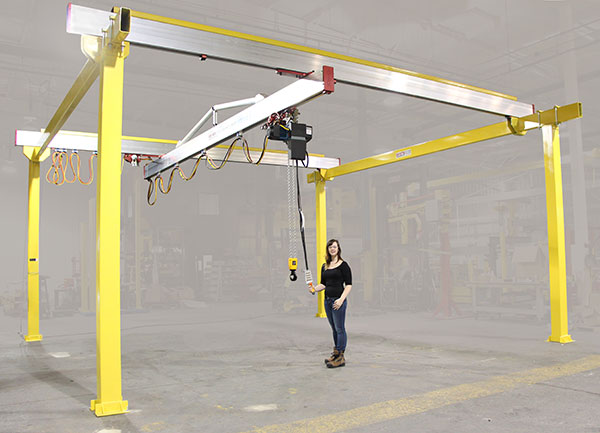 C200 Bridge Crane with low profile manufactured by Givens Lifting Systems in the US.