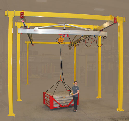C2000 Bridge Crane manufactured by Givens Lifting Systems in the US