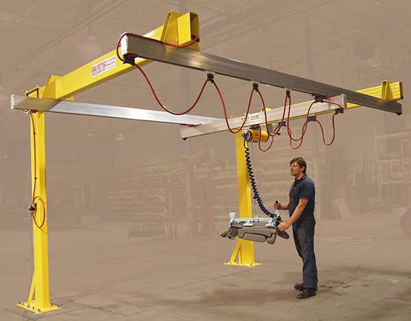 Cantilevered C250 G-Rail Bridge Crane without Trusses by Givens Lifting Systems in the US.