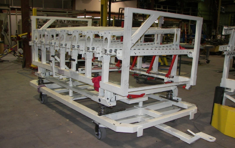 custom conveyor cart by Givens Lifting Systems Inc.