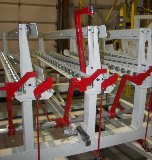 conveyor exit-end gates detail by Givens Lifting Systems Inc.