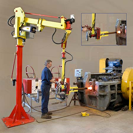 Forging manipulator at work by Givens Lifting Systems Inc.