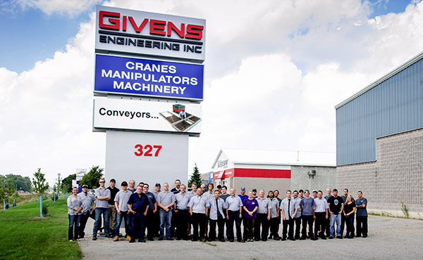 The Givens Lifting Systems Team, a US manufacturer of Cranes & Manipulators