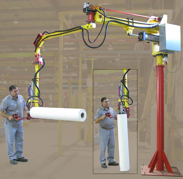 M35 manipulator with 90º degree tilt roll handler by Givens Lifting Systems Inc.