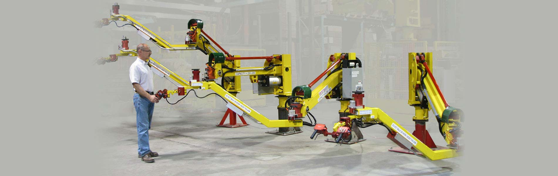 Industrial Manipulators designed in the US by Givens Lifting Systems Inc.
