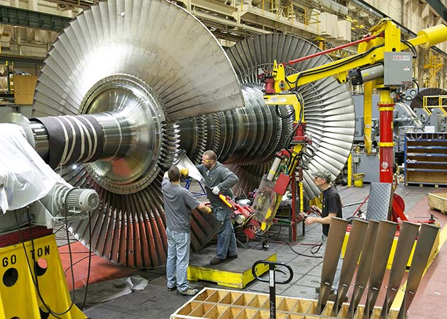 Turbine assembly with an M120 Manipulator by Givens Lifting Systems Inc.